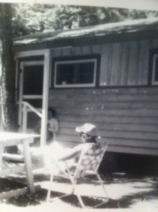 Mom and Dad chillin' in back of Uganda Cottage