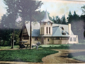 A postcard of the Stony Wold / White Fathers Chapel, circa early 1900's