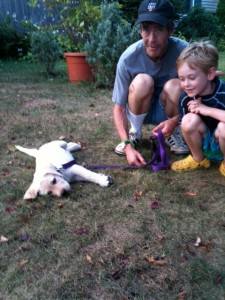 July 2011. The Dude is seven. Mookie is about ten weeks. Me? 48.