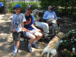 Mookie's last visit to Grandma and Grandpa, August 2012