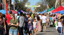 Rockawy Avenue was busy with so many people at the Valley Stream Community Feast.