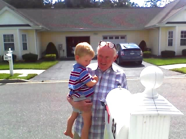 grandpa and jack get the mail 08-19-06