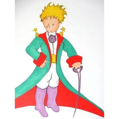 the-little-prince-in-a-big-coat-lithograph-by-antoine-de-saint-exupery-1
